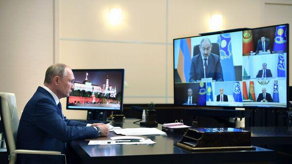 Президент РФ В. Путин провел сессию Совета коллективной безопасности ОДКБ - Sputnik Тоҷикистон