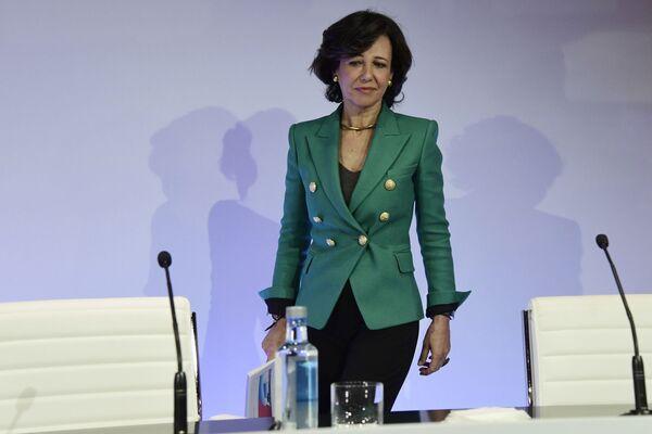 Председатель совета директоров финансово-кредитной группы Santander Ана Ботин на пресс-конференции в Боадилья-дель-Монте, 2017 год - Sputnik Таджикистан