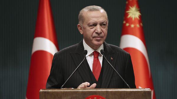 Президент Турции Реджеп Тайип Эрдоган - Sputnik Тоҷикистон