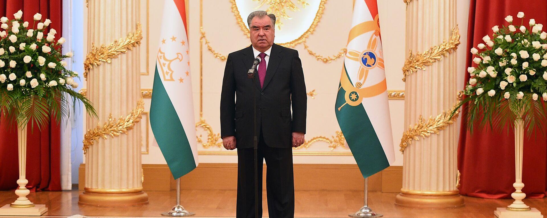 Президент Республики Таджикистан Эмомали Рахмон - Sputnik Таджикистан, 1920, 18.08.2021