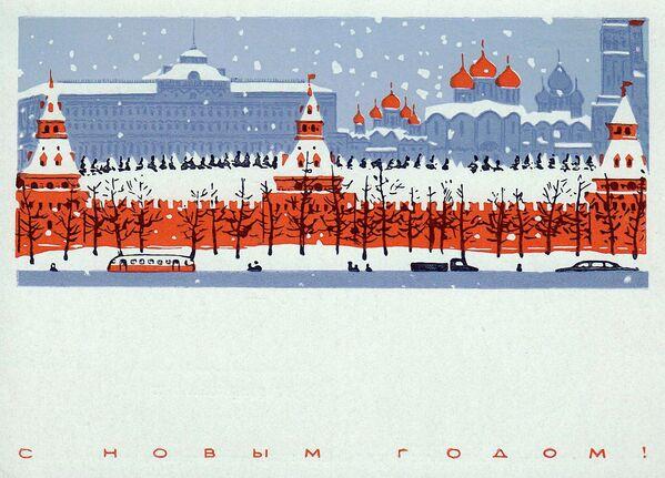 Новогодняя открытка Москва - Sputnik Таджикистан