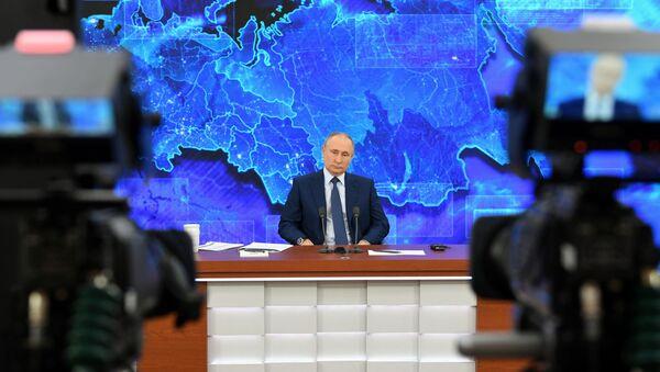 Ежегодная пресс-конференция президента РФ В. Путина - Sputnik Таджикистан