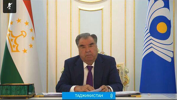 Рахмон выступил на заседании Совета глав государства СНГ - YouTube - Sputnik Тоҷикистон