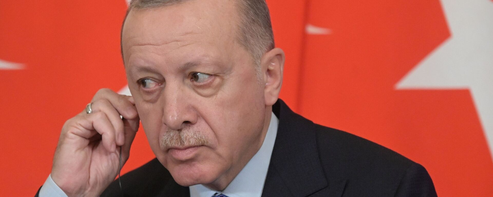 Президент Турции Реджеп Тайип Эрдоган - Sputnik Таджикистан, 1920, 09.07.2021