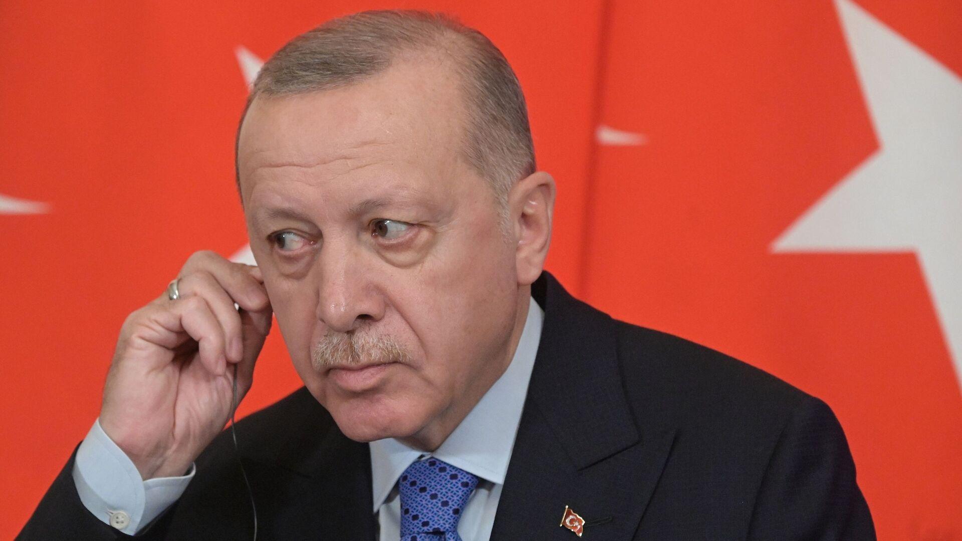 Президент Турции Реджеп Тайип Эрдоган - Sputnik Тоҷикистон, 1920, 21.09.2021