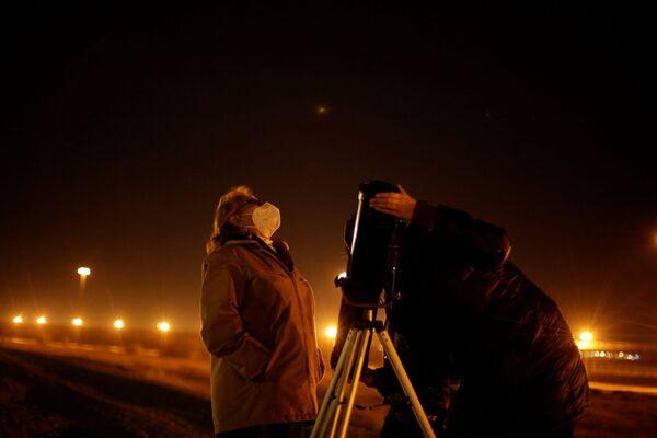 Наблюдение за соединением Юпитера и Сатурна в Мексике  - Sputnik Таджикистан