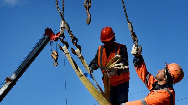 Рабочие во Владивостоке - Sputnik Таджикистан