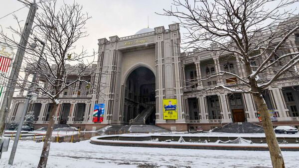Дворец Кохи Навруз зимой - Sputnik Тоҷикистон