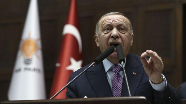 Президент Турции Реджеп Эрдоган - Sputnik Тоҷикистон