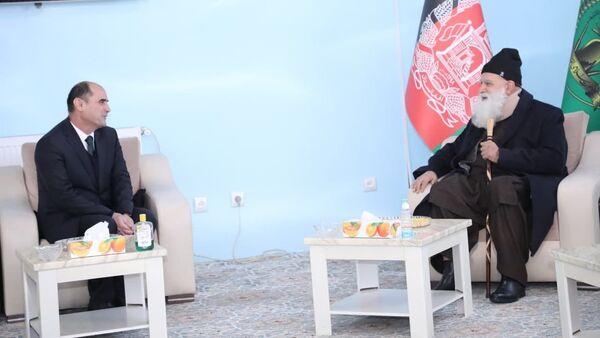 Встреча посола Таджикистана в Афганистане Саади Шарифи с Абдурабом Расули Сайяф - Sputnik Тоҷикистон