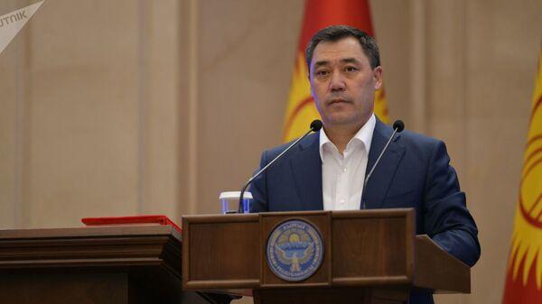 Избранный президент Кыргызстана Садыр Жапаров. Архивное фото - Sputnik Тоҷикистон