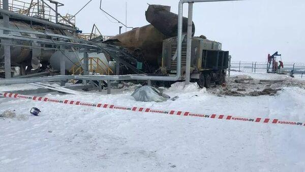 Место взрыва на нефтяном предприятии в Татарстане - Sputnik Тоҷикистон