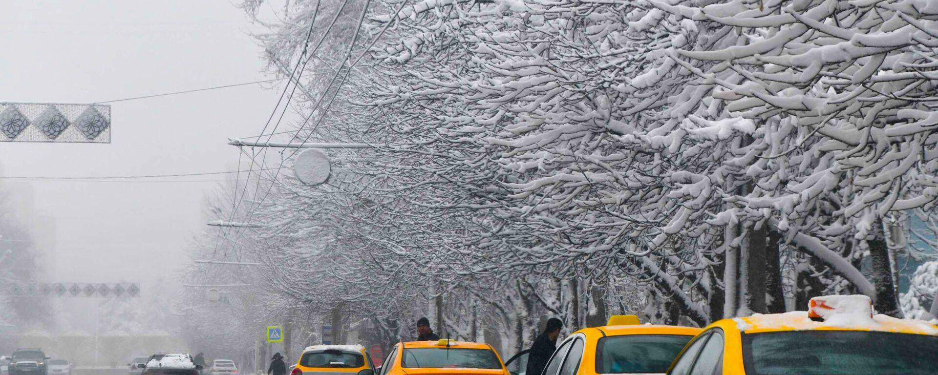 Зима в городе Душанбе - Sputnik Тоҷикистон, 1920, 17.02.2021