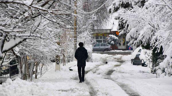 Зима в городе Душанбе - Sputnik Тоҷикистон