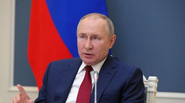Президент РФ В. Путин выступил на сессии онлайн-форума Давосская повестка дня 2021 - Sputnik Тоҷикистон