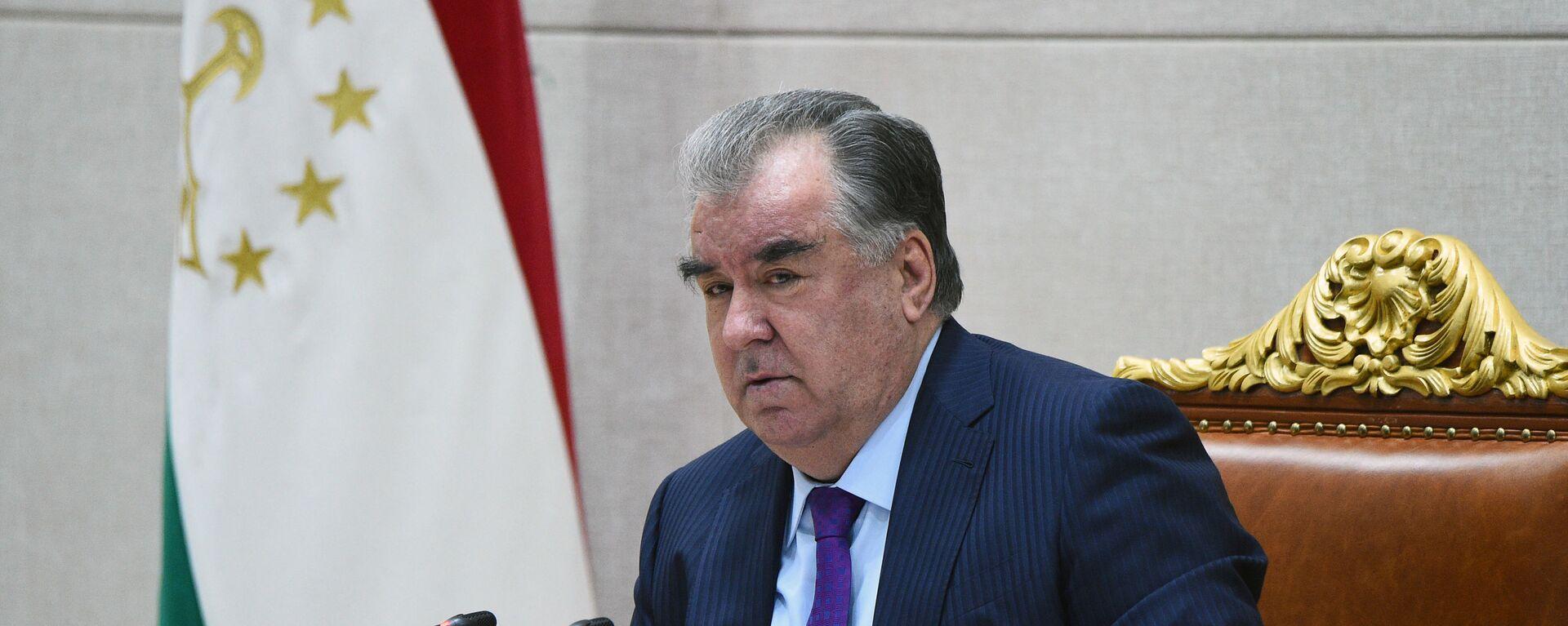 Президент Таджикистана Эмомали Рахмон - Sputnik Таджикистан, 1920, 31.03.2021