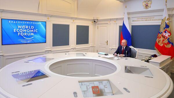 Президент РФ В. Путин выступил на сессии онлайн-форума Давосская повестка дня 2021 - Sputnik Таджикистан