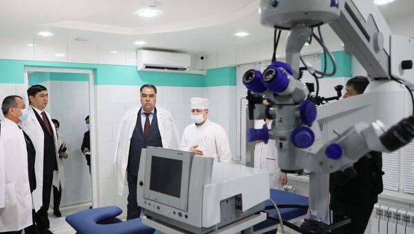 Открытие глазного центра Босира в Худжанде  - Sputnik Таджикистан