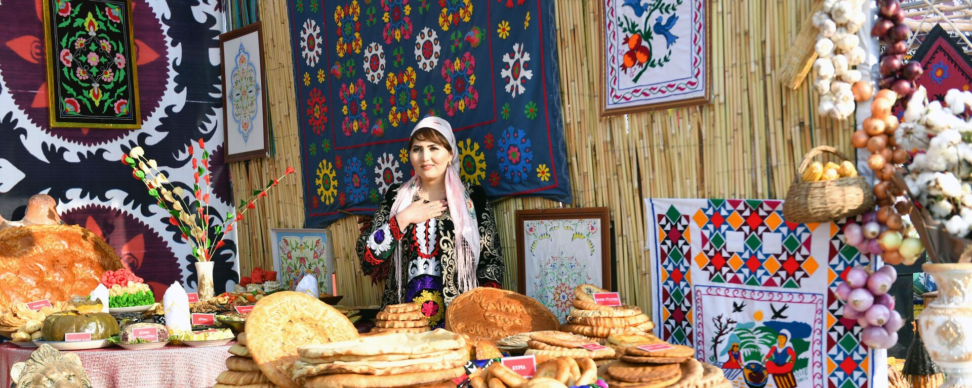 Достижения народного хозяйства на выставке в Согдийской области - Sputnik Таджикистан, 1920, 11.06.2021