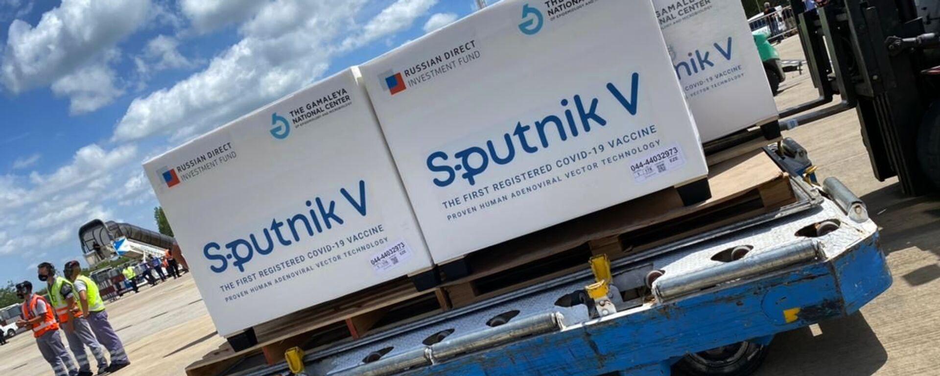 Прибытие рейса с вакциной Sputnik V в Аргентину - Sputnik Таджикистан, 1920, 21.06.2021