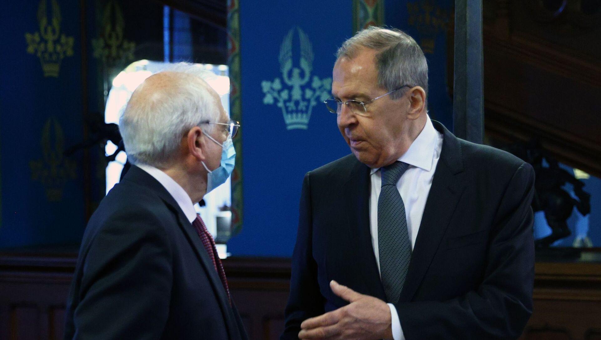 Встреча главы МИД РФ С. Лаврова и верховного представителя ЕС Ж. Борреля - Sputnik Таджикистан, 1920, 13.02.2021