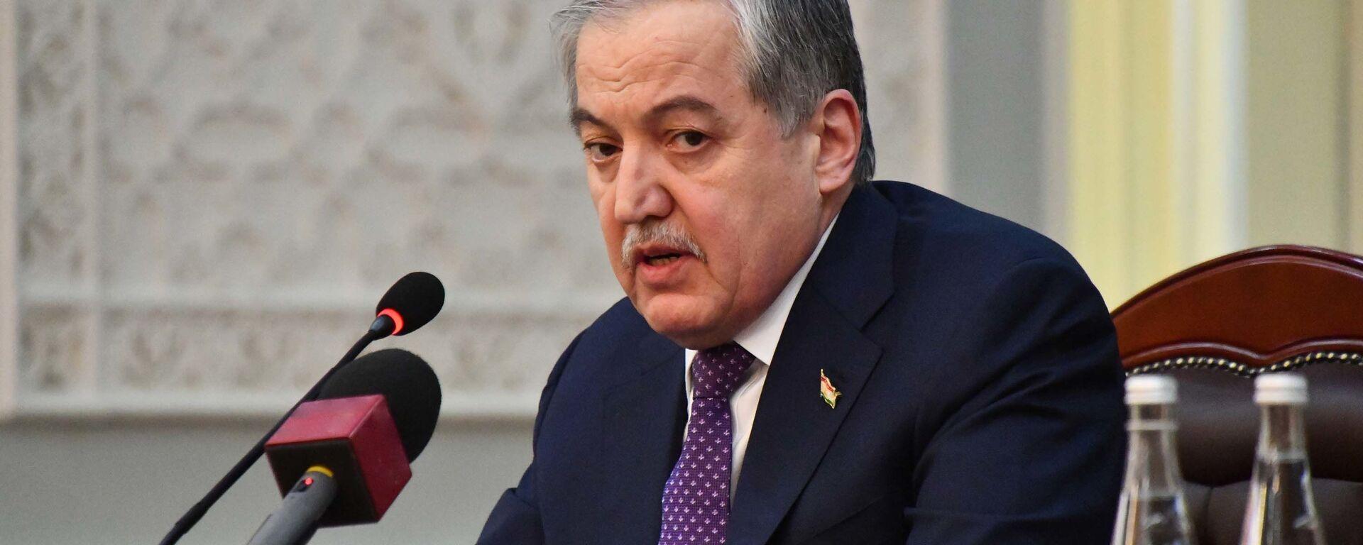 Министр иностранных дел Таджикистана Сироджиддин Мухриддин - Sputnik Тоҷикистон, 1920, 03.10.2021
