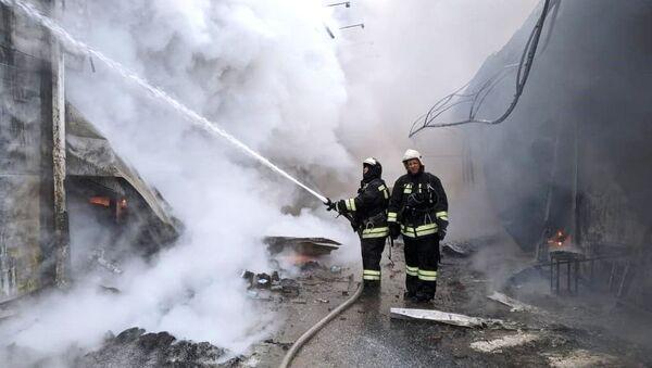 Пожар на рынке в Волгограде - Sputnik Таджикистан