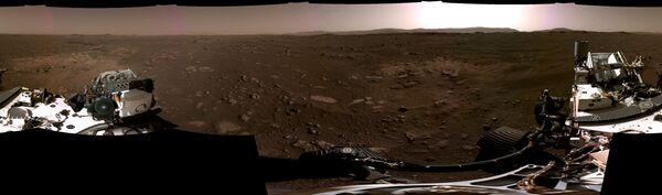 Марсианская панорама с камер аппарата NASA's Perseverance Mars Rover - Sputnik Таджикистан