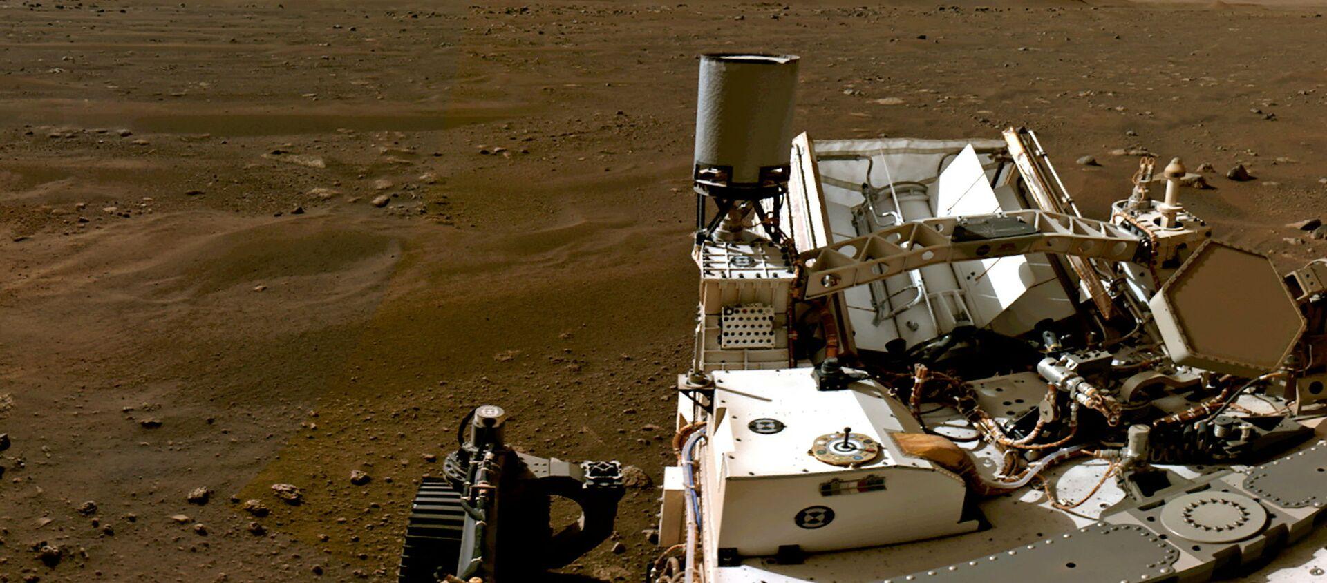 Марсианский пейзаж, снятый марсоходом Perseverance - Sputnik Таджикистан, 1920, 24.02.2021