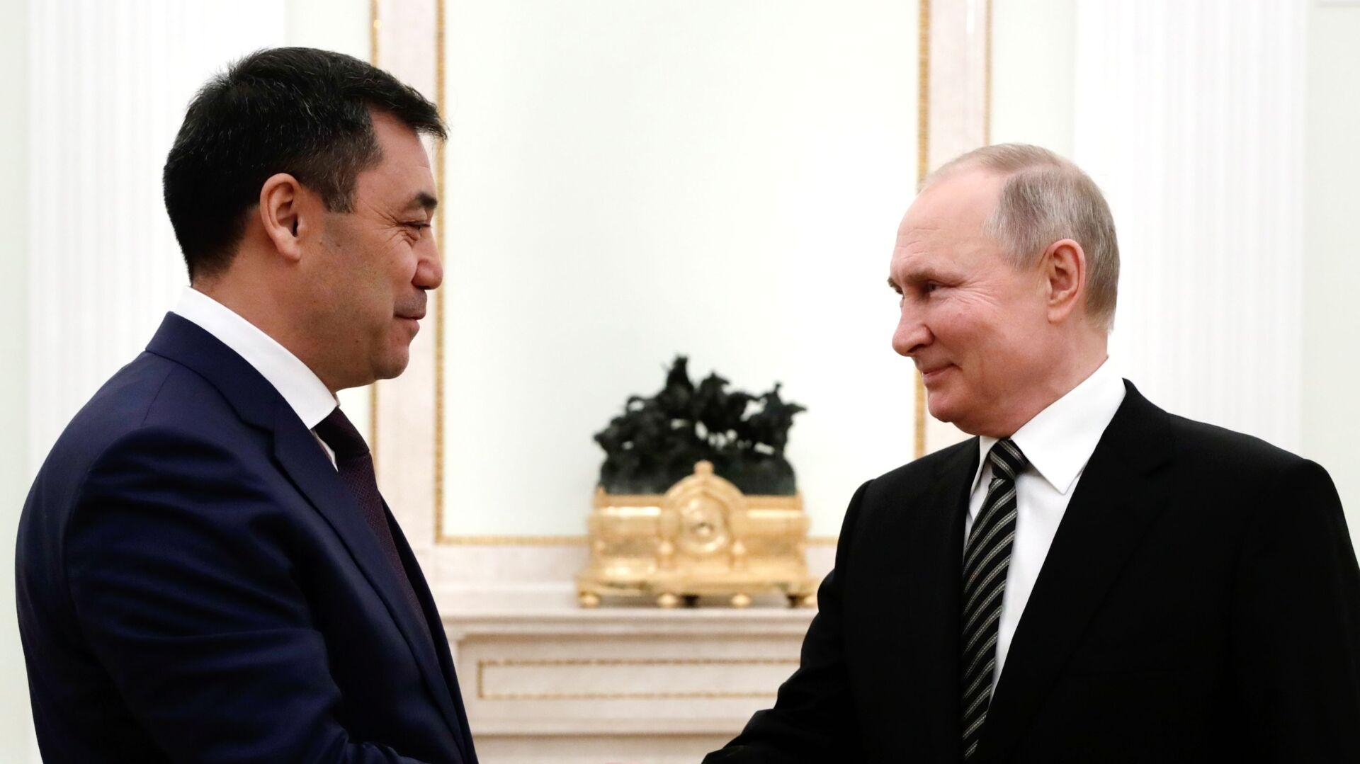 Президент РФ В. Путин провел переговоры с президентом Киргизии С. Жапаровым - Sputnik Таджикистан, 1920, 21.05.2021