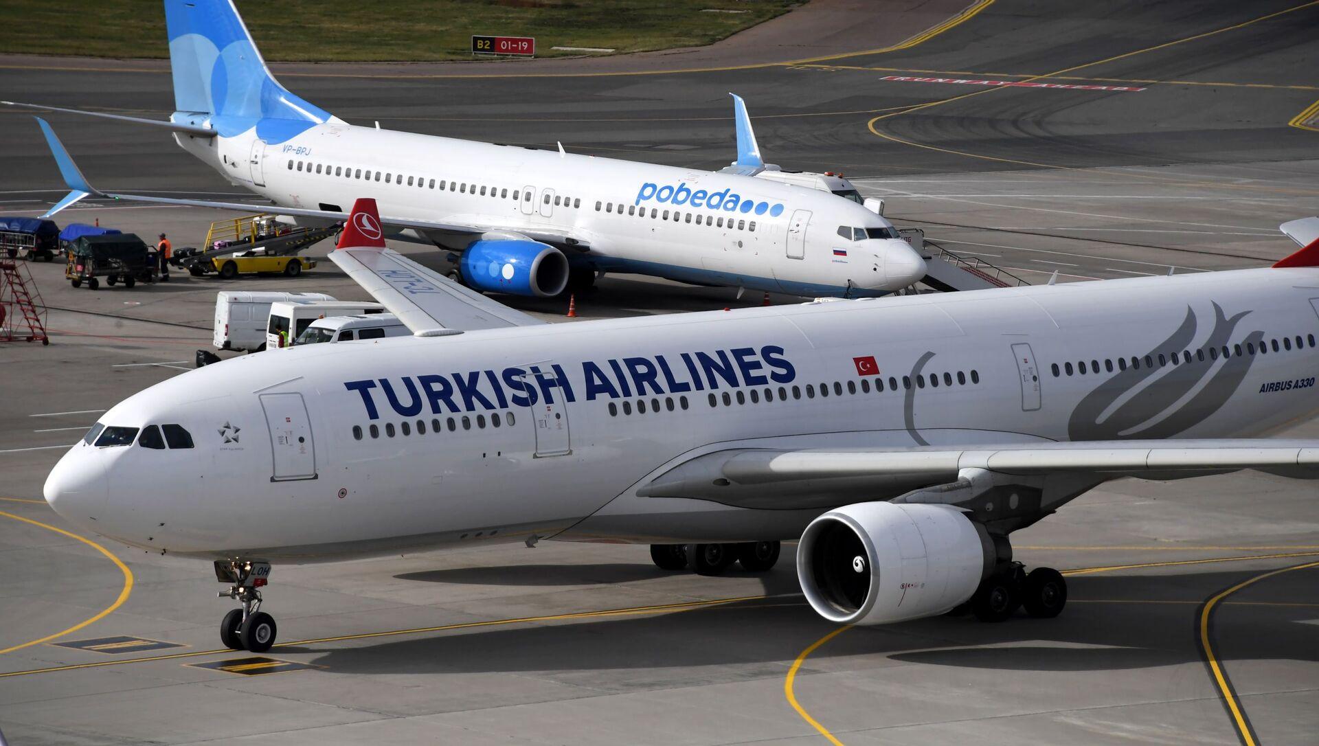 Самолеты авиакомпаний Тurkish Airlines (Турецкие Авиалинии)  - Sputnik Таджикистан, 1920, 25.02.2021