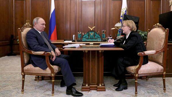 Президент РФ В. Путин встретился с главой ФМБА России В. Скворцовой - Sputnik Тоҷикистон