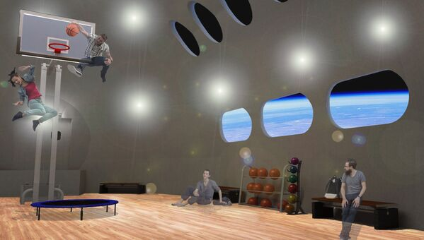В тренажерном зале можно будет попробовать упражнения в условиях низкой гравитации - Sputnik Таджикистан