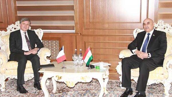 Встреча Махмадтоира Зокирзода с новым послом Франции в Таджикистане - Sputnik Тоҷикистон
