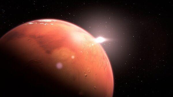 Иллюстрация планеты Марс - Sputnik Таджикистан