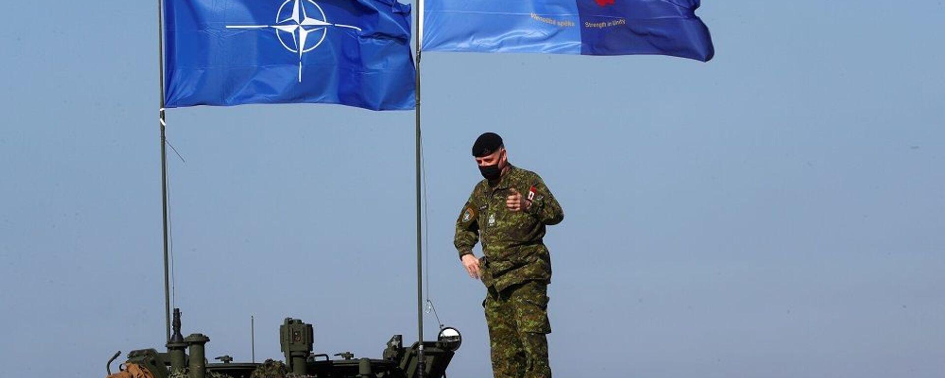 Военные учения боевой группы передового присутствия НАТО Хрустальная стрела-2021 в Адажи - Sputnik Таджикистан, 1920, 21.05.2021