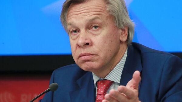 Член Совета Федерации Федерального Собрания РФ Алексей Пушков  - Sputnik Тоҷикистон