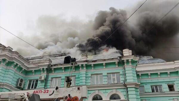 Пожар в центре Благовещенска - Sputnik Таджикистан