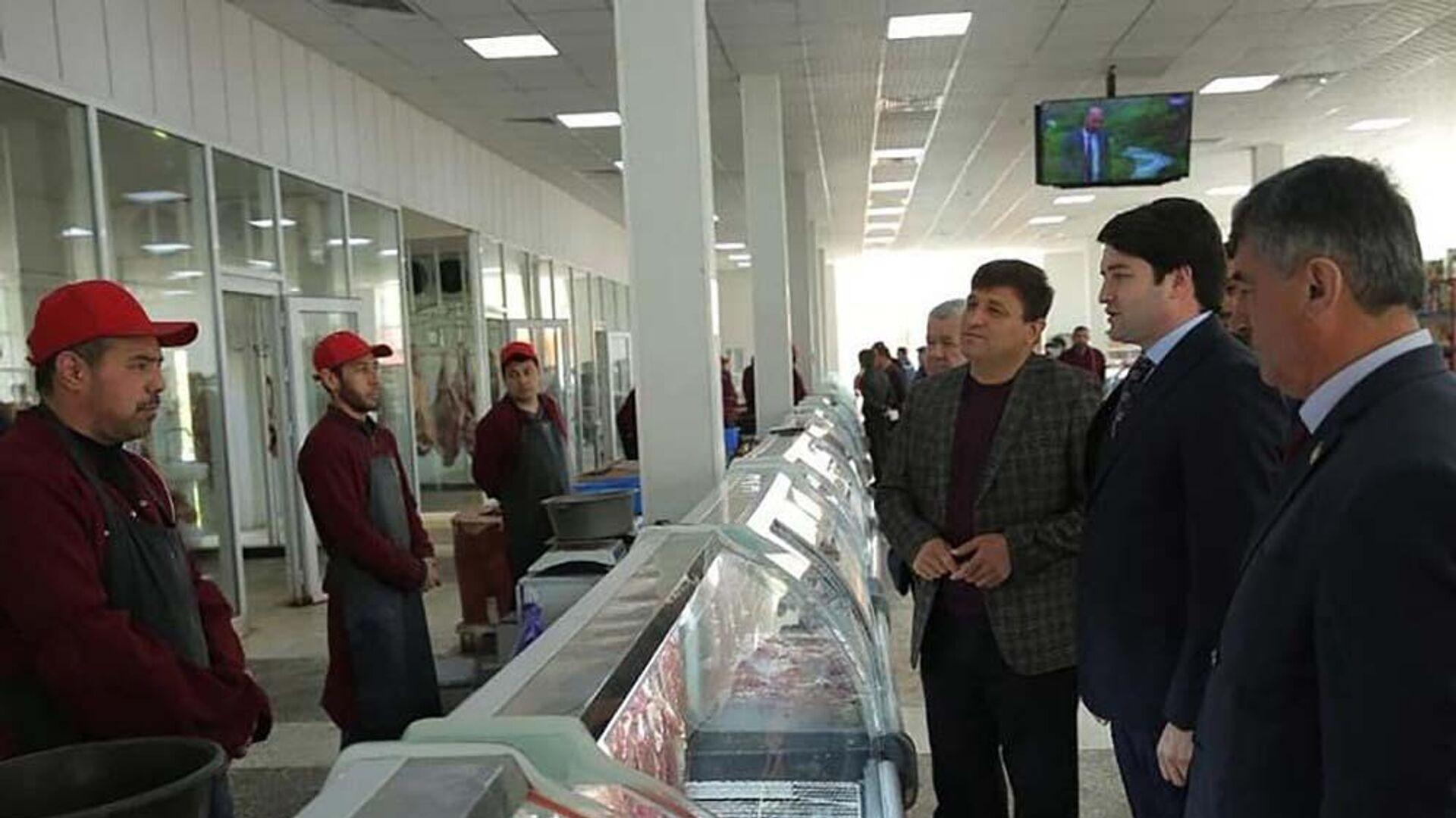 Открытие мясного магазина в Душанбе - Sputnik Тоҷикистон, 1920, 07.04.2021
