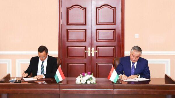 Подписание соглашения о сотрудничестве между Таджикистаном и Венгрии - Sputnik Тоҷикистон