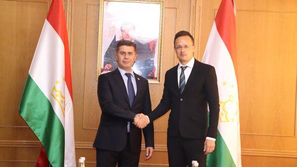 Министр экономического развития и торговли Завкизода Завки Амин встретился с министром иностранных дел и внешней торговли Венгерской Республики Петером Сийярто - Sputnik Таджикистан