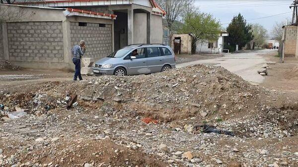Траншея на таджикско-кыргызская границе - Sputnik Тоҷикистон