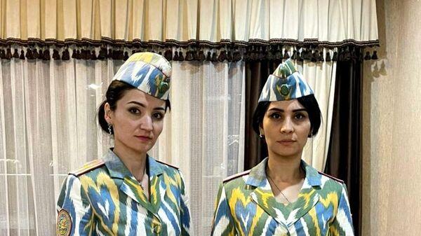Либоси идонаи низомӣ ва саҳроии миллии занонаи корманди милитсия - Sputnik Таджикистан
