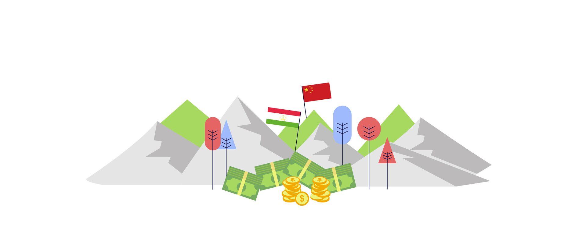 Долг Таджикистана перед Китаем - Sputnik Таджикистан, 1920, 02.03.2021