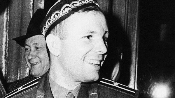 Космонавт Юрий Гагарин в Ташкенте - Sputnik Таджикистан