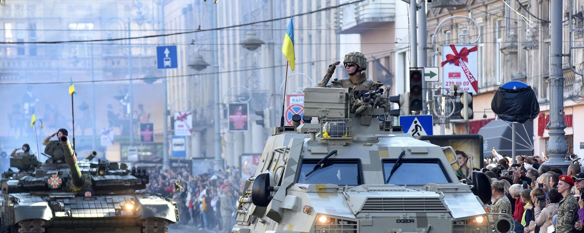 Бронеавтомобиль Дозор на военном параде на Украине - Sputnik Таджикистан, 1920, 13.04.2021
