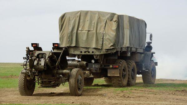 Учения по огневой подготовке Народной милиции ЛНР - Sputnik Таджикистан
