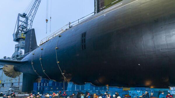 Спуск на воду атомной подлодки проекта Ясень-М в Северодвинске - Sputnik Таджикистан