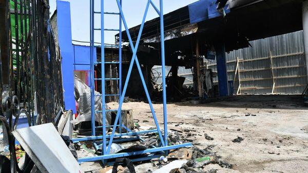 Последствия взрыва АЗС в Душанбе - Sputnik Таджикистан