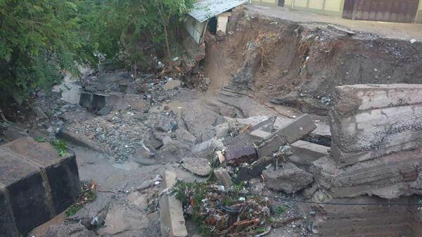 Мавзеъҳои харобшуда дар паи сел дар Кӯлоб - Sputnik Таджикистан